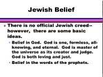 jewish belief