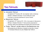 two talmuds