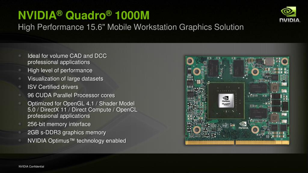 PPT - NVIDIA ® Quadro ® Mobile Workstation Solutions — HP Huron