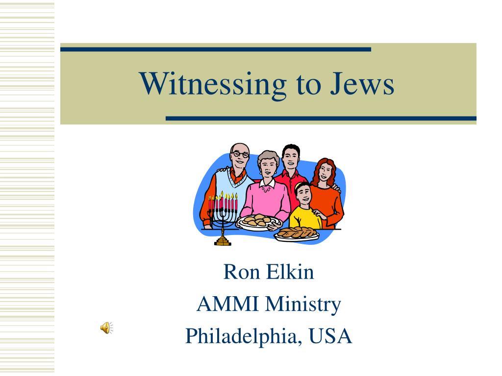 witnessing to jews l.