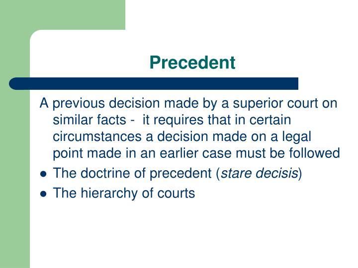 what is the doctrine of precedent