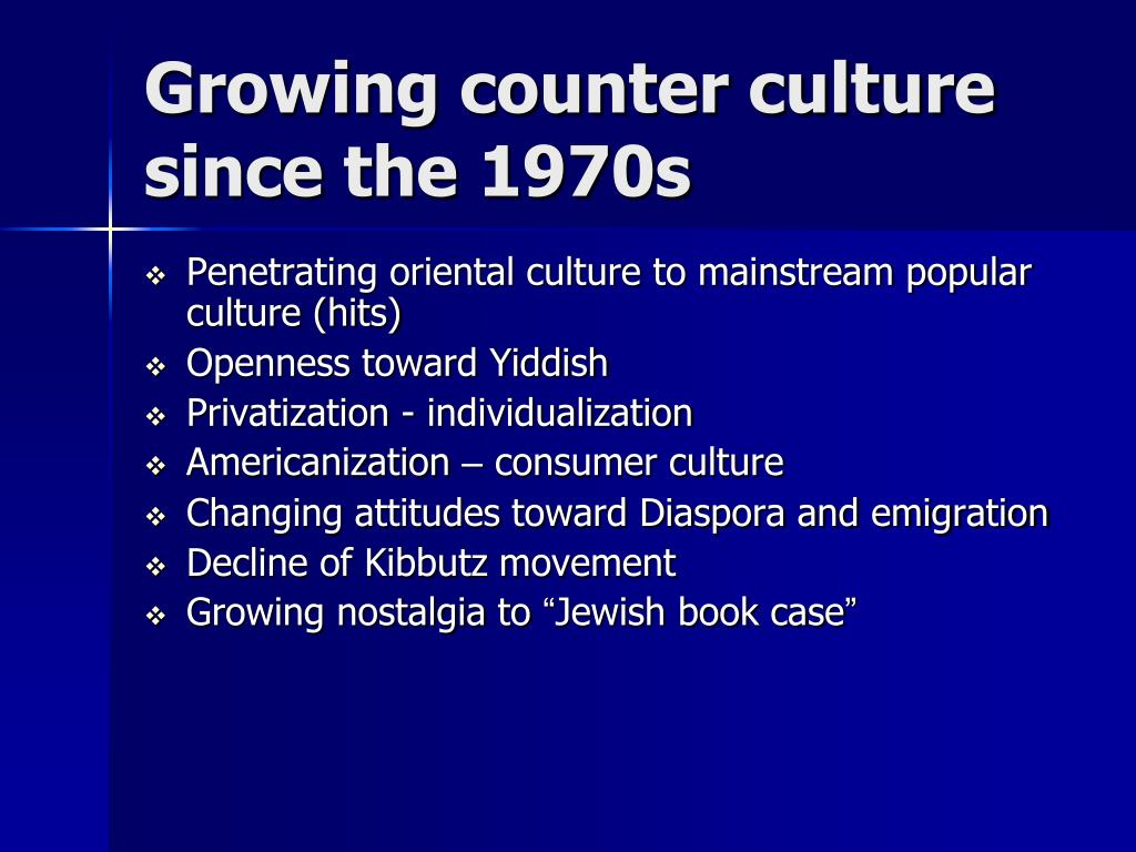 Growing counter culture
