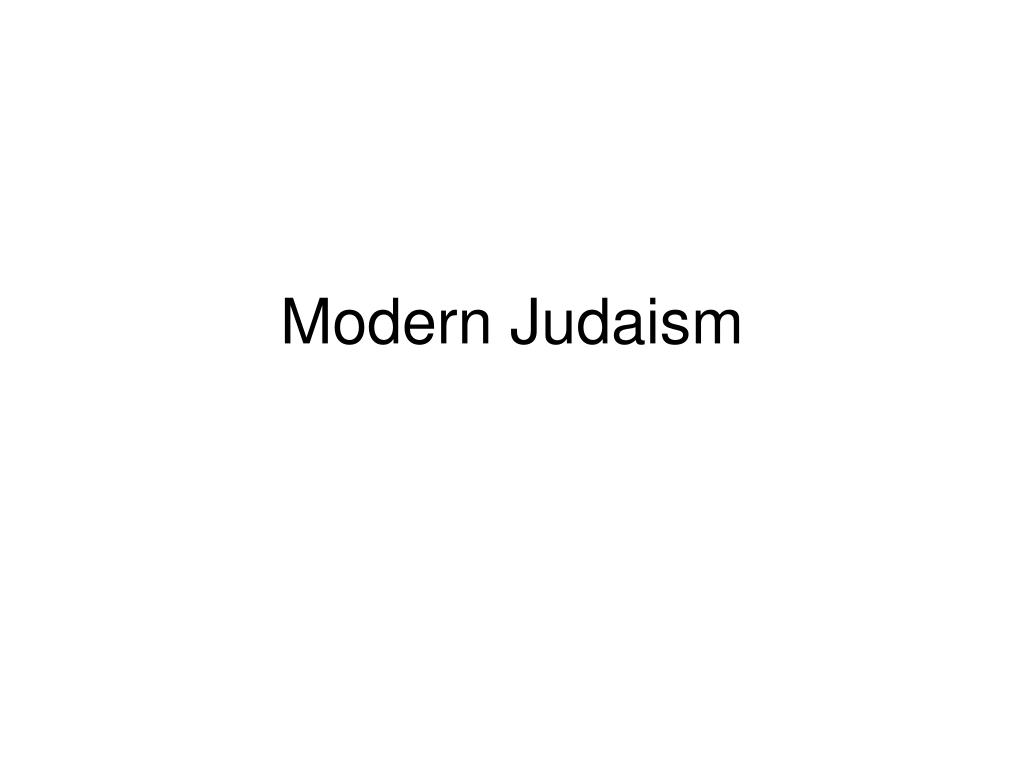 modern judaism l.