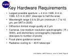 key hardware requirements