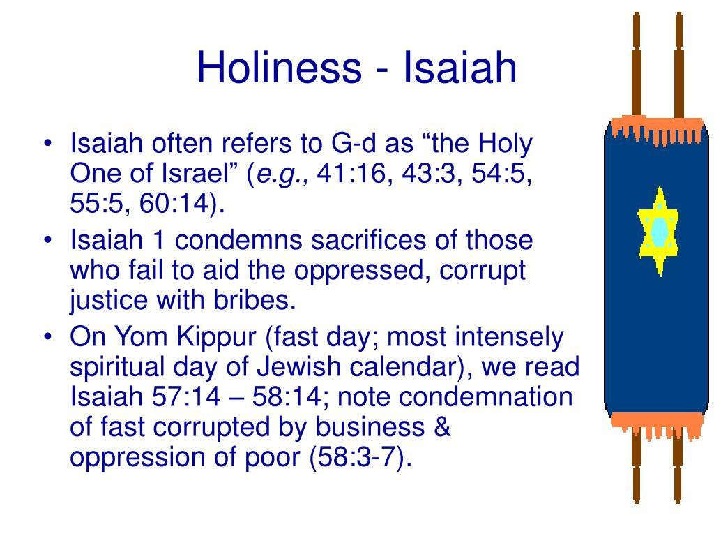 Holiness - Isaiah