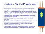 justice capital punishment