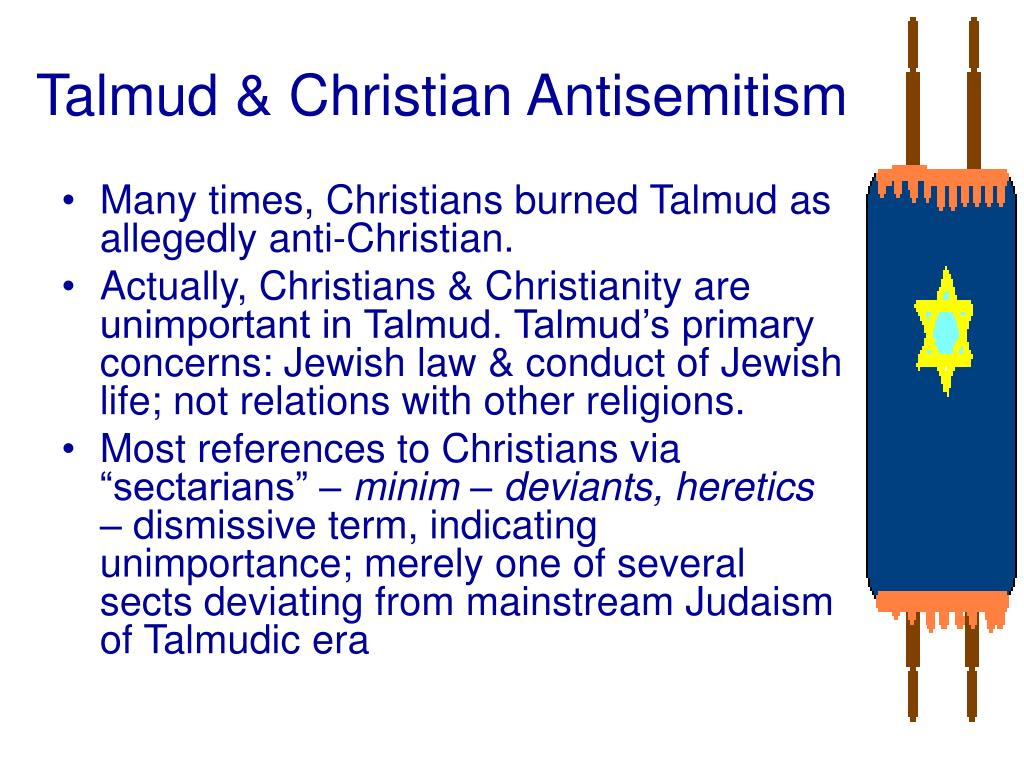 Talmud & Christian Antisemitism