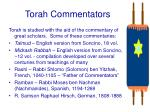 torah commentators