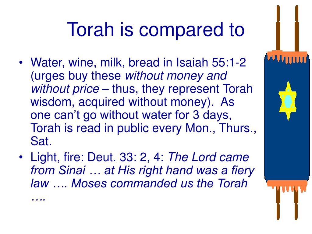 Torah is compared to