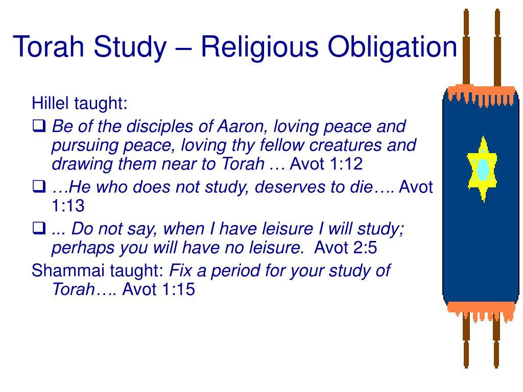 Torah Study – Religious Obligation