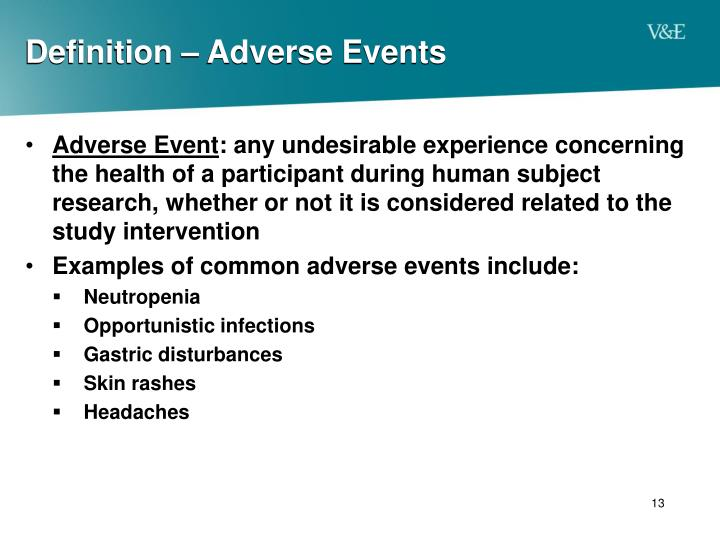 Definition – Adverse Events