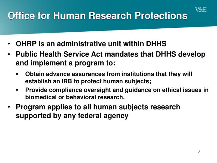 Office for human research protections