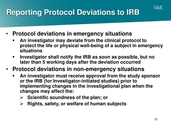 Reporting Protocol Deviations to IRB