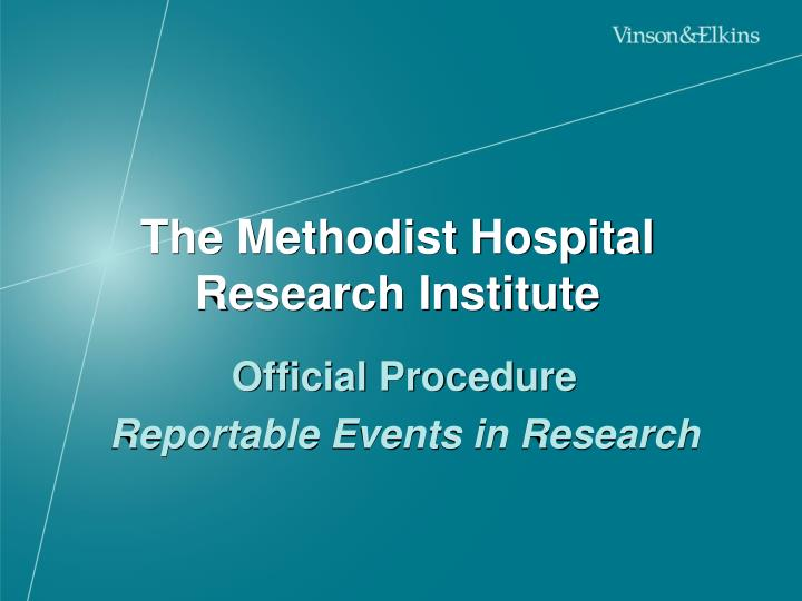 The Methodist Hospital Research Institute