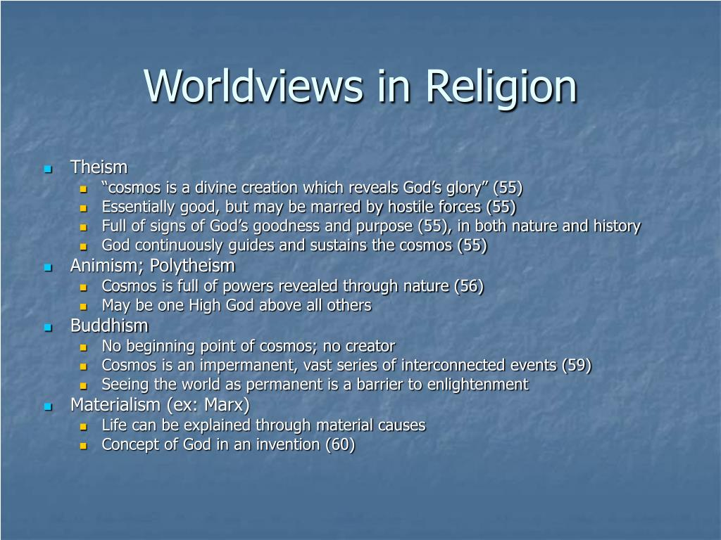 Worldviews in Religion