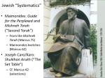 jewish systematics