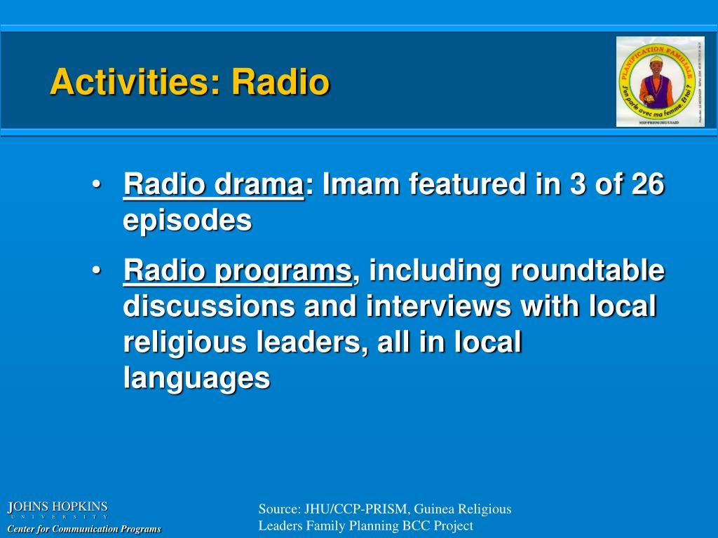Activities: Radio