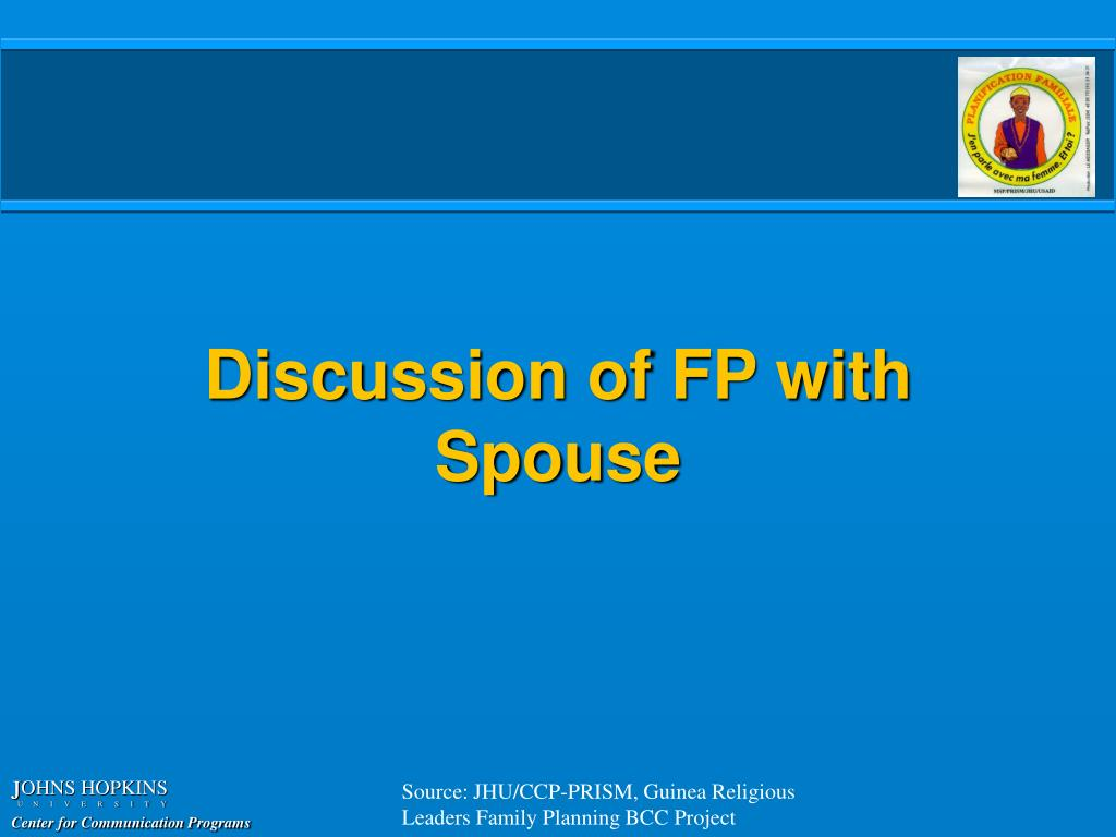 Discussion of FP with Spouse