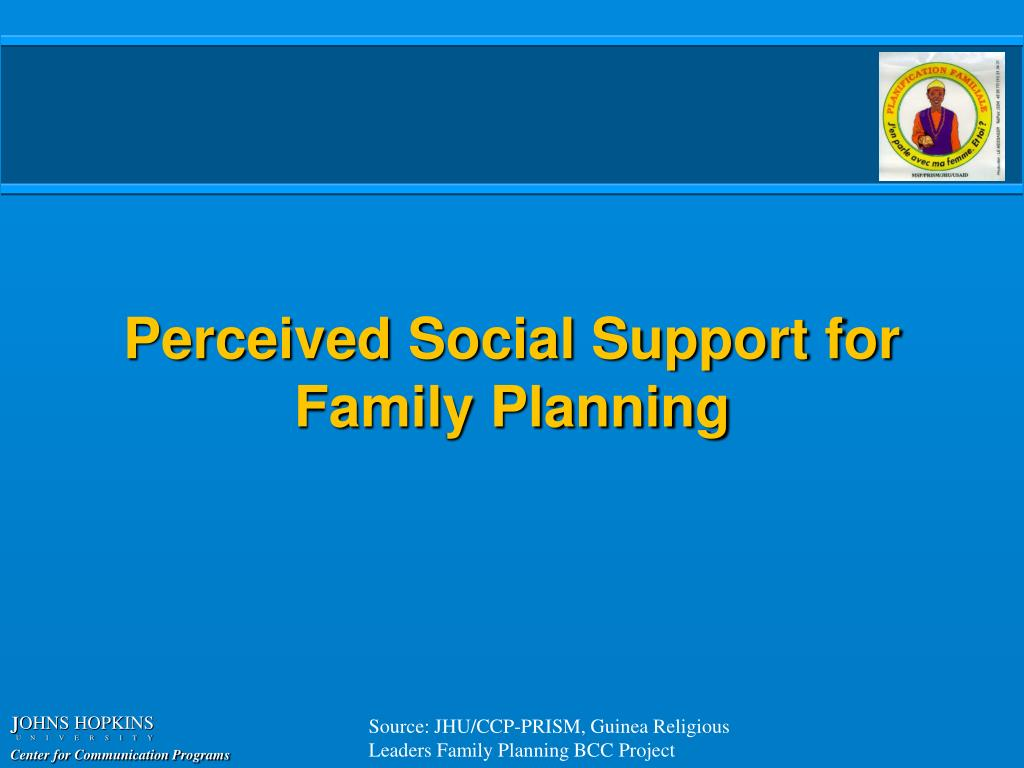 Perceived Social Support for Family Planning