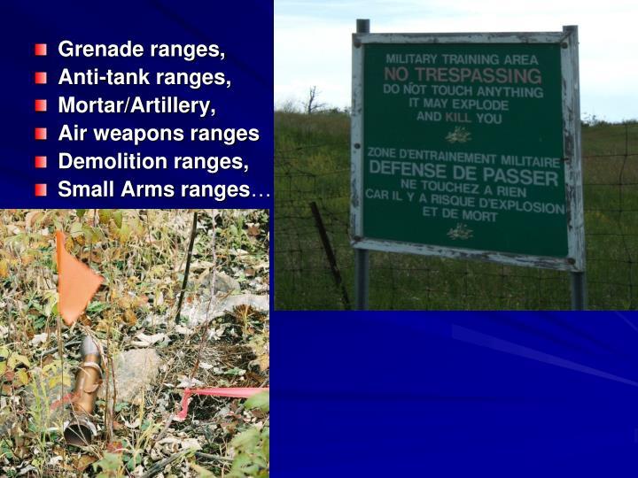 Grenade ranges,