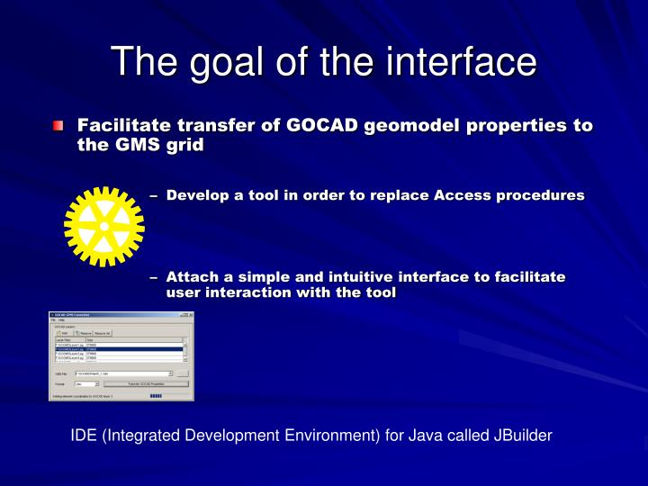 Facilitate transfer of GOCAD geomodel properties to the GMS grid