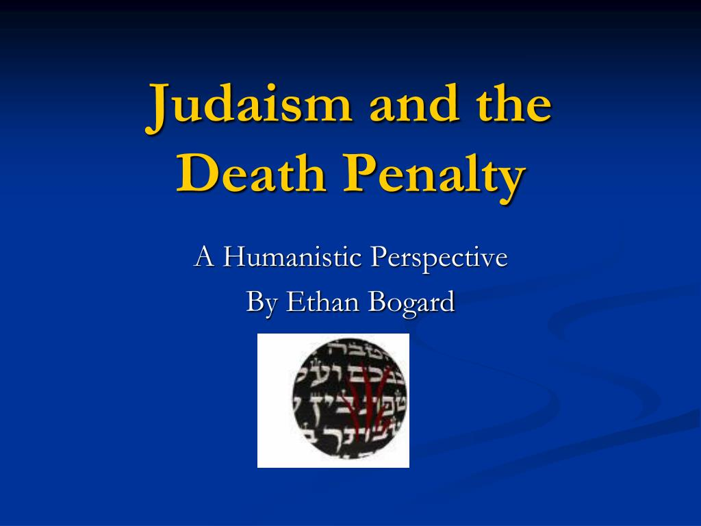 judaism and the death penalty l.
