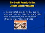 the death penalty in the jewish bible passages