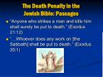 the death penalty in the jewish bible passages4
