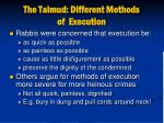 the talmud different methods of execution
