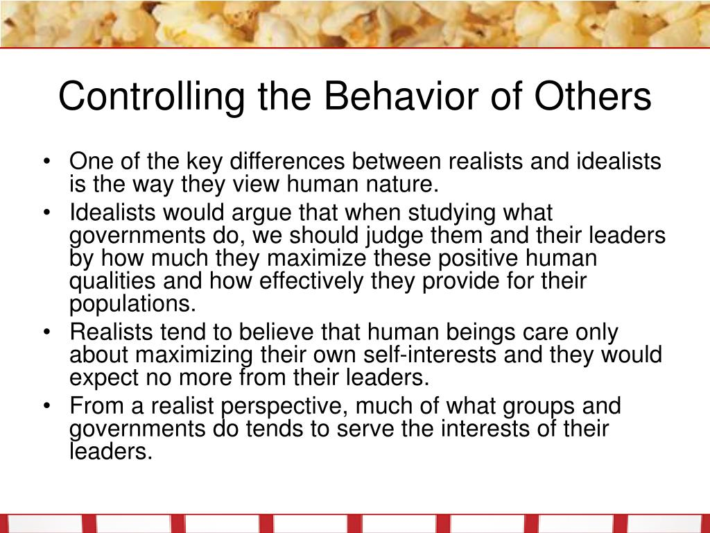 Controlling the Behavior of Others