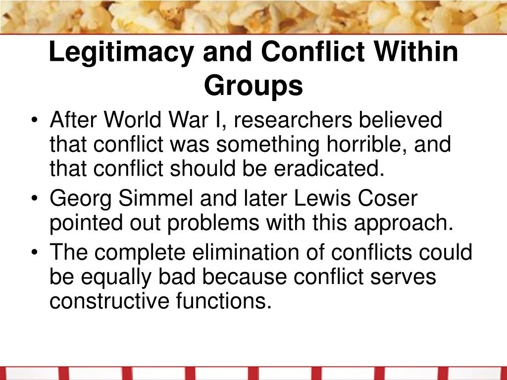 Legitimacy and Conflict Within Groups