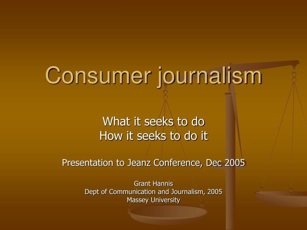 consumer journalism l.
