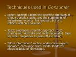 techniques used in consumer14