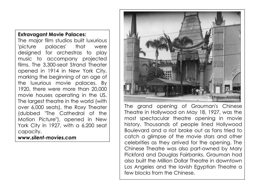 Extravagant Movie Palaces: