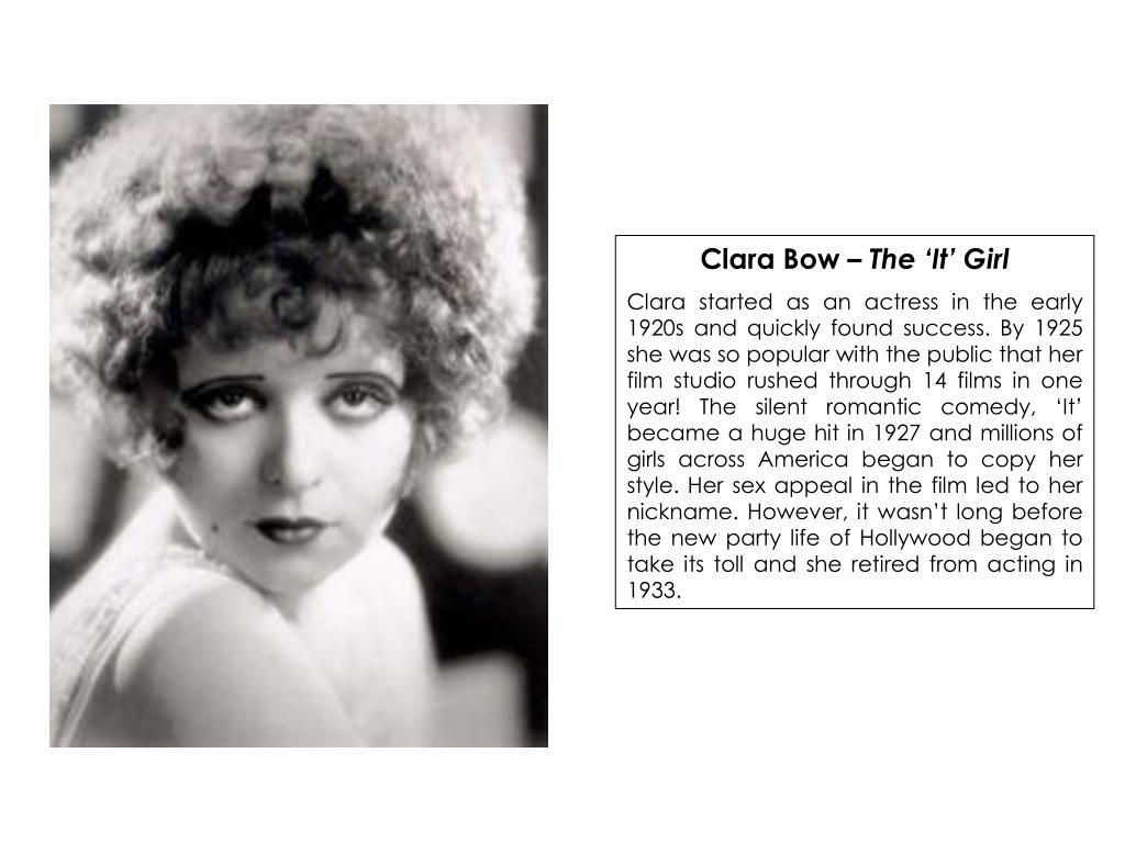 Clara Bow –