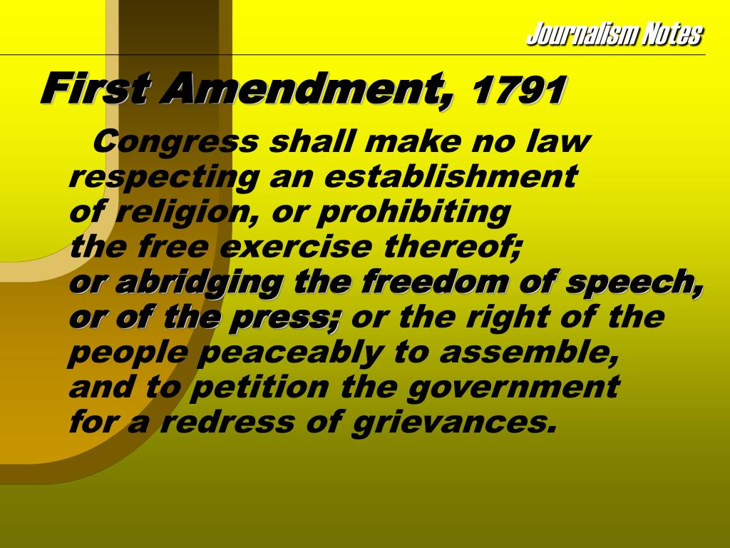 First Amendment,