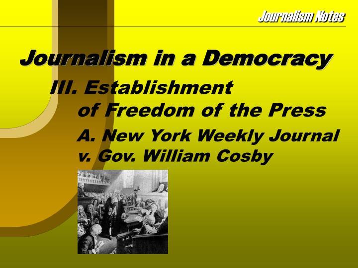 Journalism in a democracy3