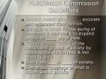 hutchinson commission guidelines