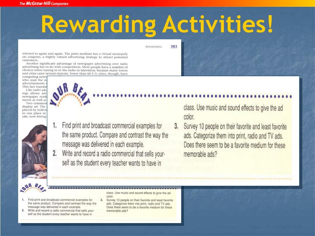 Rewarding Activities!