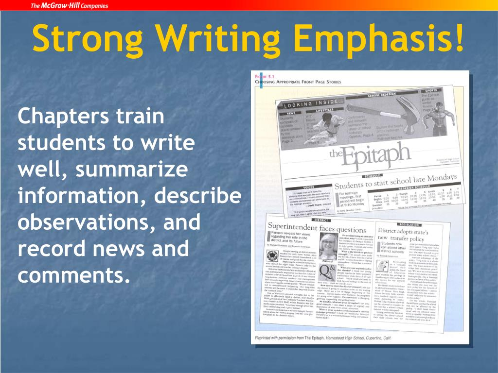 Strong Writing Emphasis!