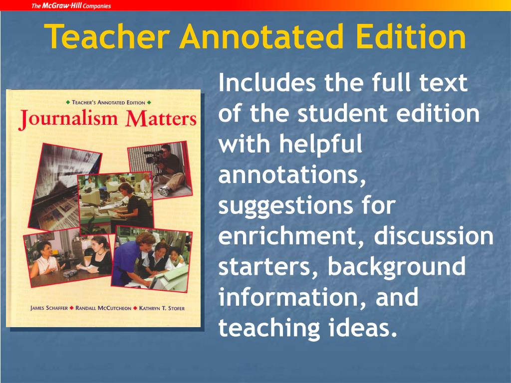Teacher Annotated Edition