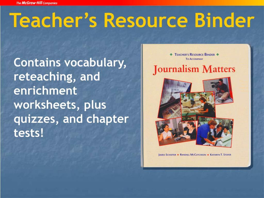 Teacher's Resource Binder