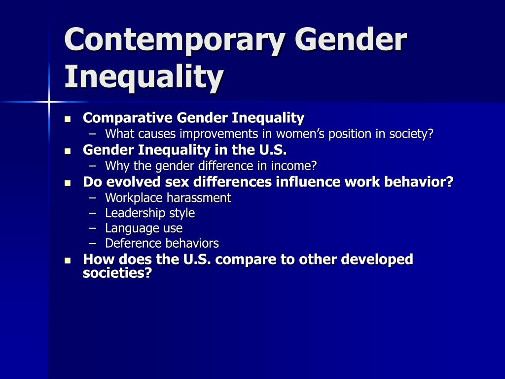 contemporary gender inequality l.