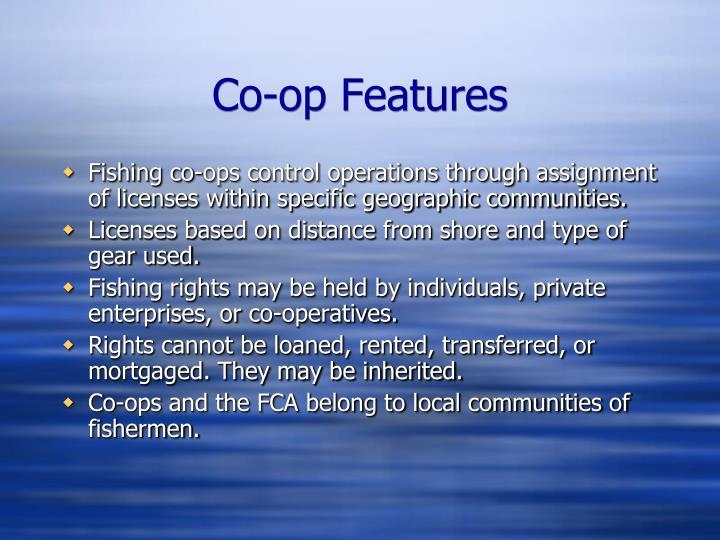 Co-op Features