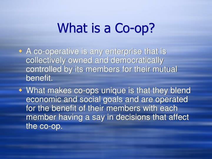 What is a co op