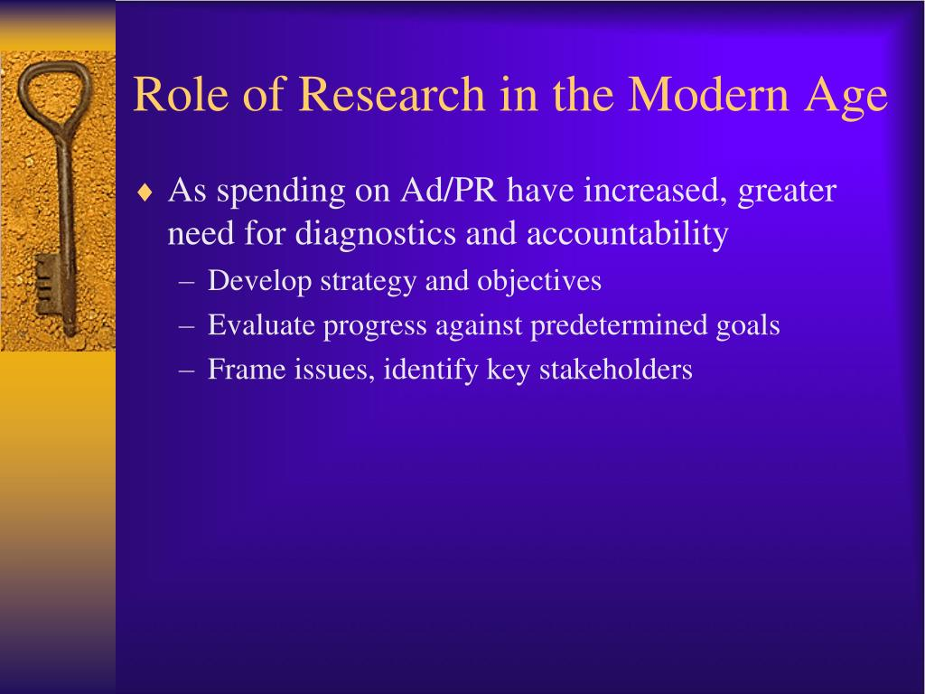 Role of Research in the Modern Age