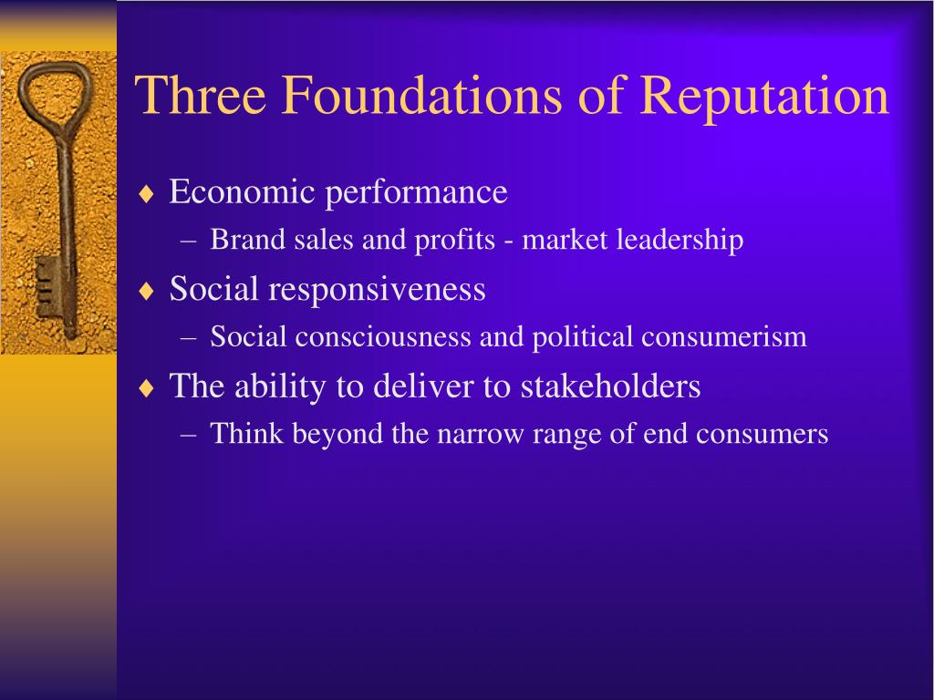 Three Foundations of Reputation
