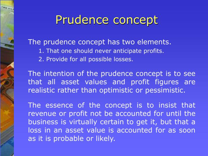 prudence concept example