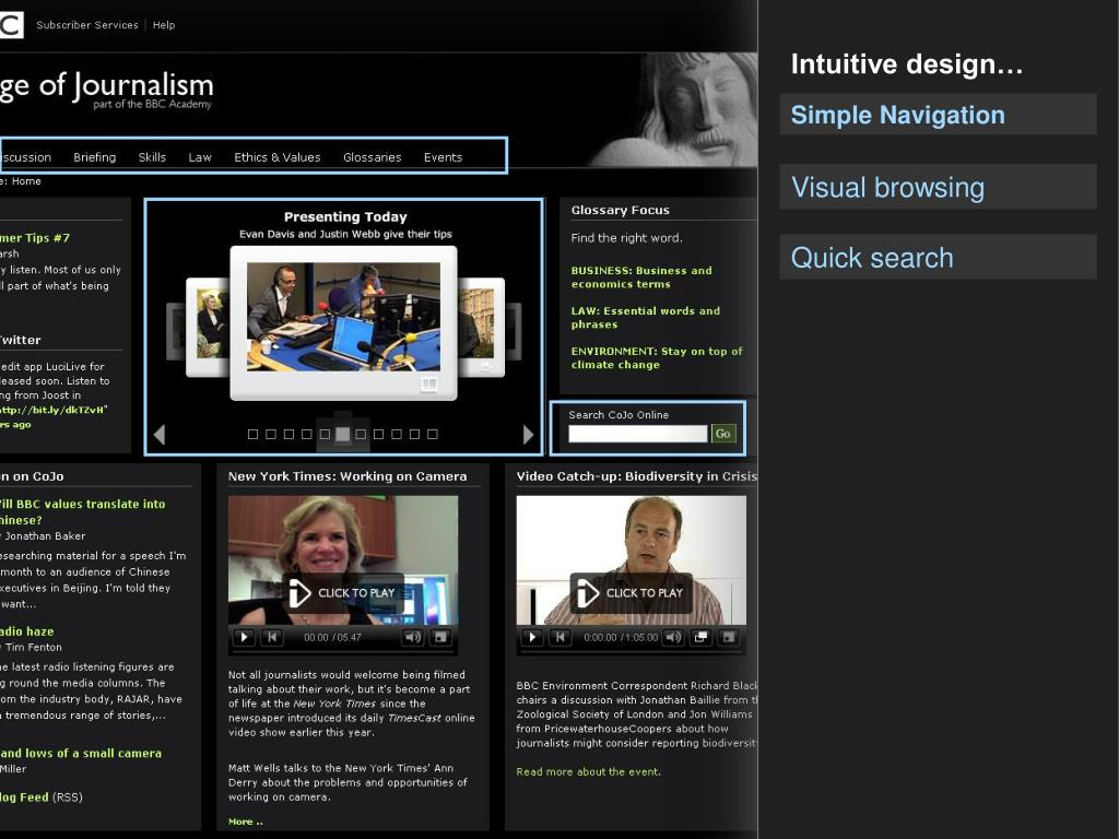 Intuitive design…