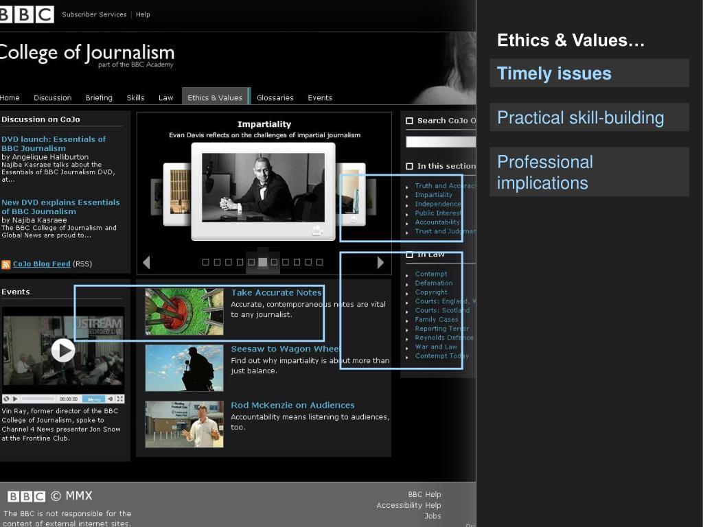 Ethics & Values…